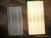 Старый и новый воздушный фильтр