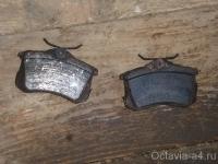 Старые тормозные колодки